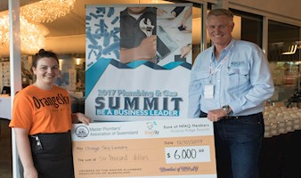 $6,000 Donated to Orange Sky Australia at MPAQ's 2017 Plumbing and Gas Summit – Featuring Keynote Speaker Shane Webcke