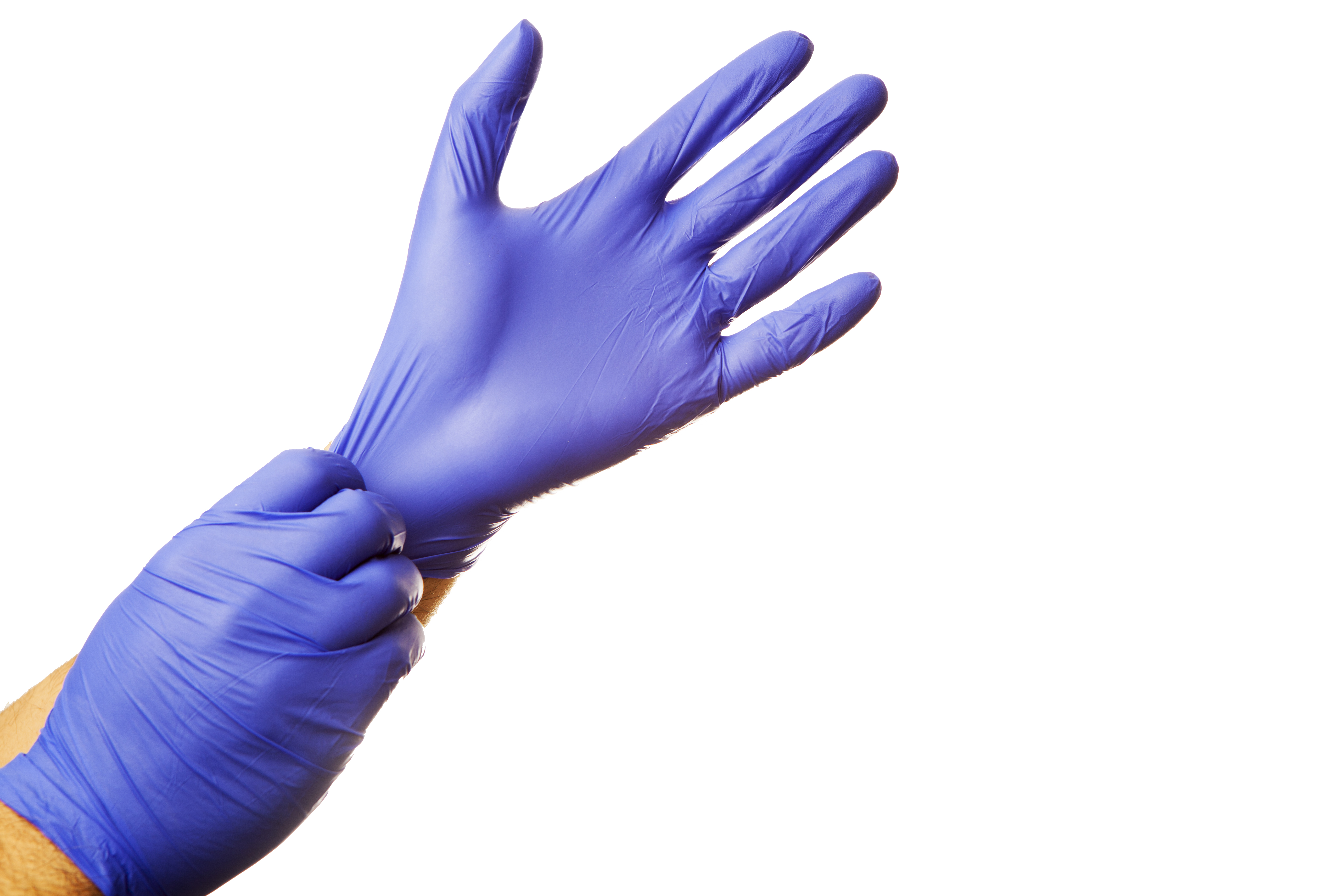 Disposable Rubber Gloves - Box of 100 - Large
